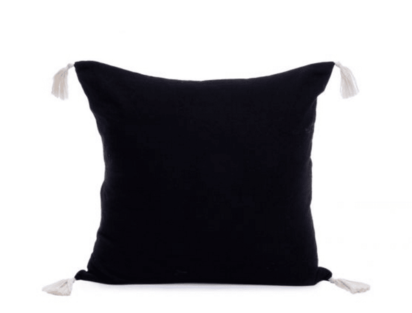 TASSEL CUSHION COVER | BLACK - ATELIER LANE | interior design hong kong | designer homewares australia