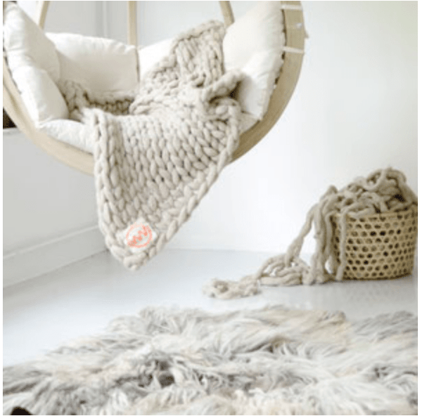 Chunky Knit Throw | ATELIER LANE
