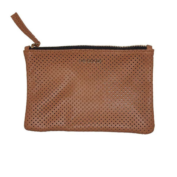 The Goods Co clutch - Tobacco