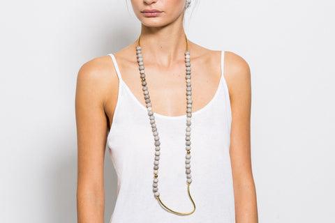TAHNDI - LONG NECKLACE / ORGANIC BOTTOM
