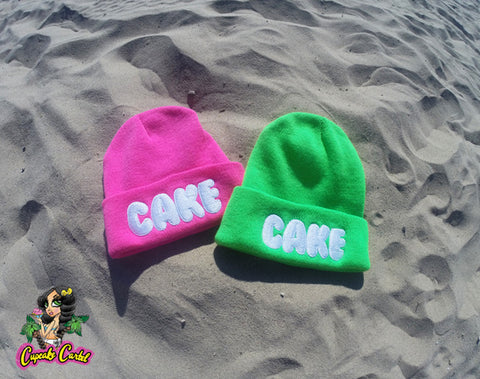 CAKE Knit Beanies Neon Colors