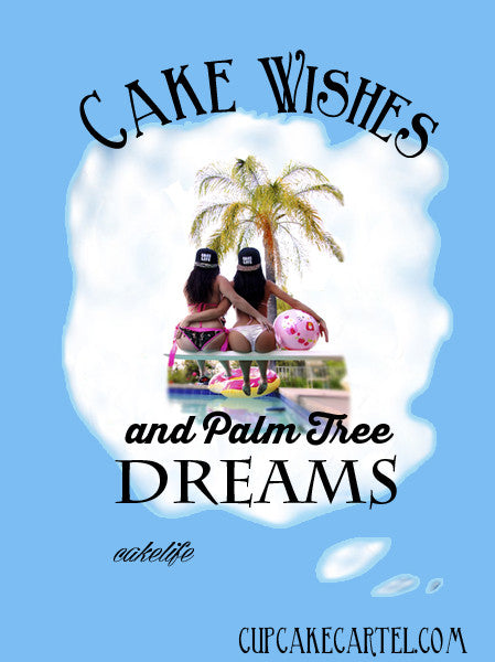 Cake Wishes & Palm Tree Dreams Mens Shirt