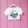 Bombshell Beach Club Logo Crop Top