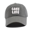 Cake Life Dad Hats Gray