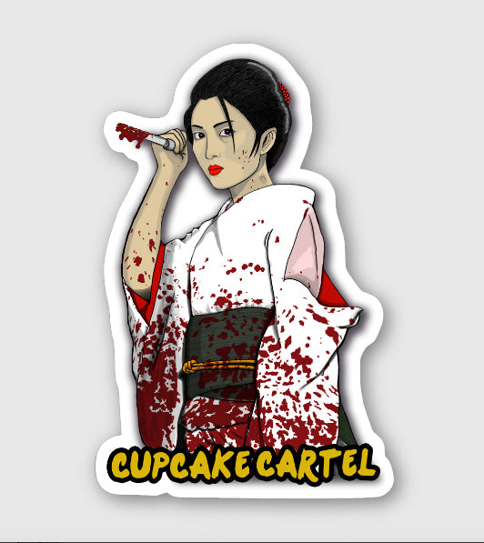 "Cupcake Cartel "" Icy ""  Logo Sticker"