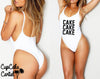 Cake Cake Cake!  One Piece High Cut Swim Wear