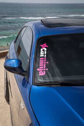 CarNinja Logo Window Decal (Pink / White)