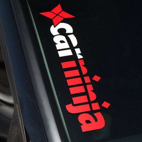 CarNinja Logo Window Decal (Red / White)