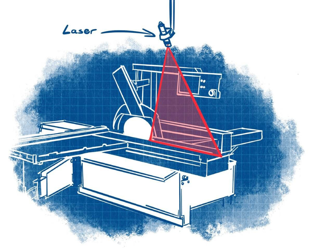 Z-Laser Line Laser Action on the Sliding Table Saw