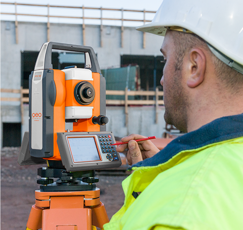 TS FTS 102 + SurvCE - Total Station Reflectorless, Laser Measuring Surveying Geo 3