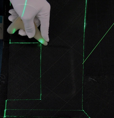 The Laser Projector generates its image