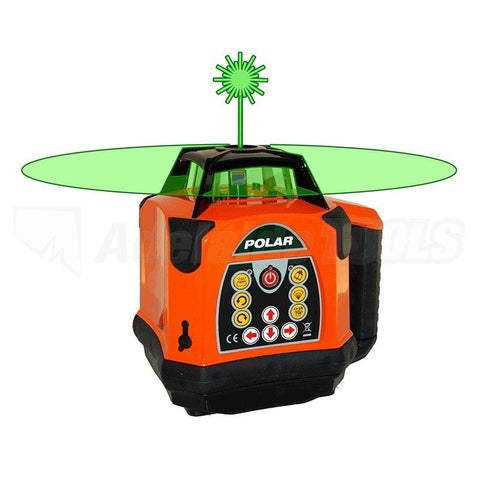 Bear Polar HVG Rotating Laser Level Green Beam with Wallmount and Bear Receiver