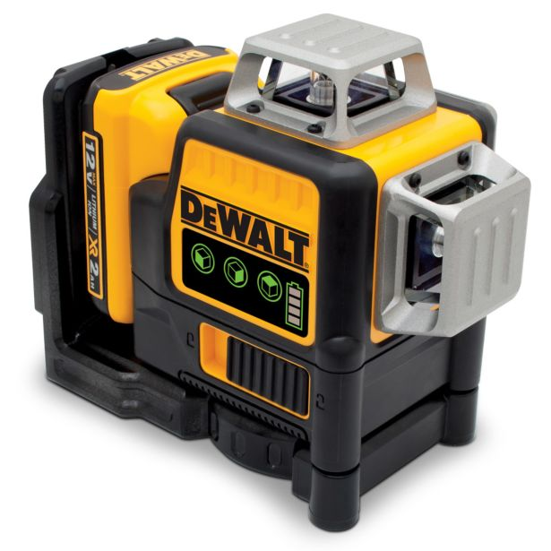 Dewalt Multi Line Laser Level 3x360 Green Beams DCE089D1G