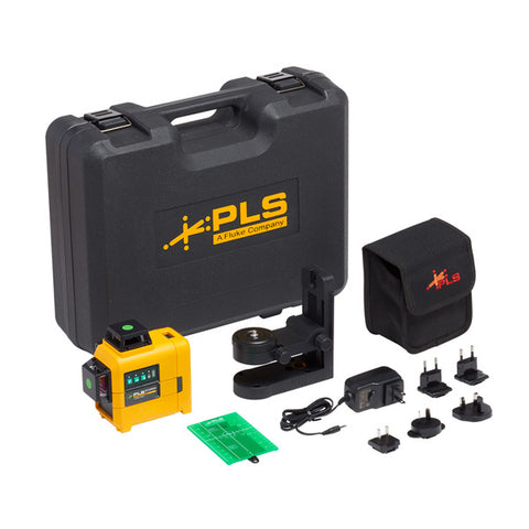FLUKE PLS 3X360G KIT Three-Plane Green Laser Level Kit - Pacific Laser Systems - 5114153