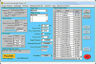 Fluke PressCal Software (Improved Accuracy)