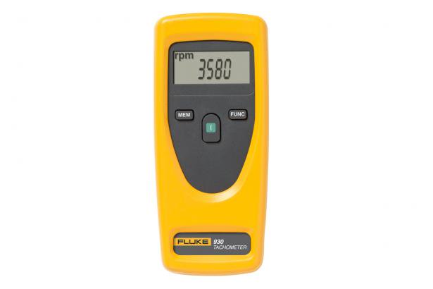 Fluke 930 Non-Contact Tachometer  0.1 m wheel Conical speed measuring head Inner cone speed measuring head Lengthening rod 10 reflective stripes