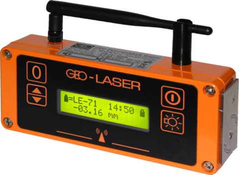 Geo Laser LE-71 Precision Laser Receiver, Laser Detector for Laser Level, Waterproof Laser