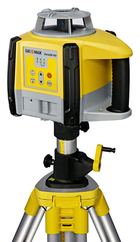 GeoMax Zone20 HV Rotating Laser Level with ZRB90 Basic Laser Receiver, Alkaline Bat