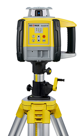 GeoMax Zone20 HV Rotating Laser Level with ZRD105 Digital Laser Receiver, Alkaline Batteries