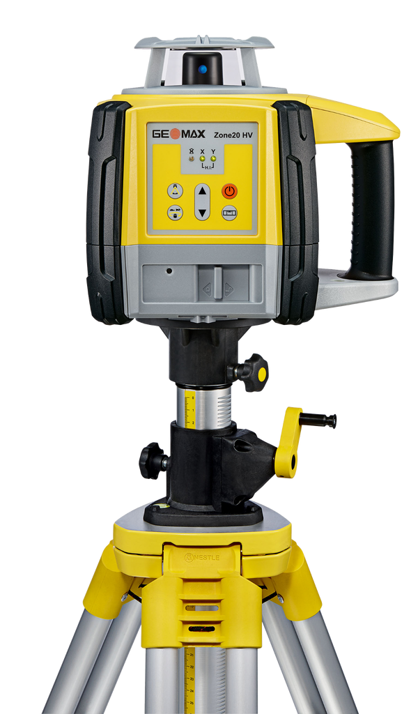 GeoMax Zone20 HV Rotating Laser Level with ZRP105 Pro Laser Receiver, Alkaline Bat