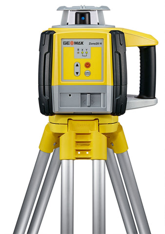 GeoMax Zone20 H Rotating Laser Level with ZRP105 Pro Receiver Alkaline Battery Door