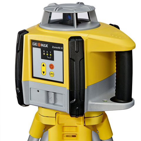 GeoMax Zone40 H Rotating Laser Level with ZRB90 Laser Receiver and Alkaline Batteries