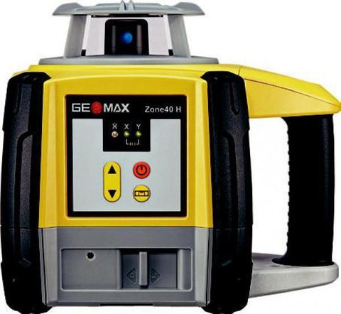 GeoMax Zone40 H Rotating Laser Level with ZRD105 Digital Laser Receiver, Alkaline Battery