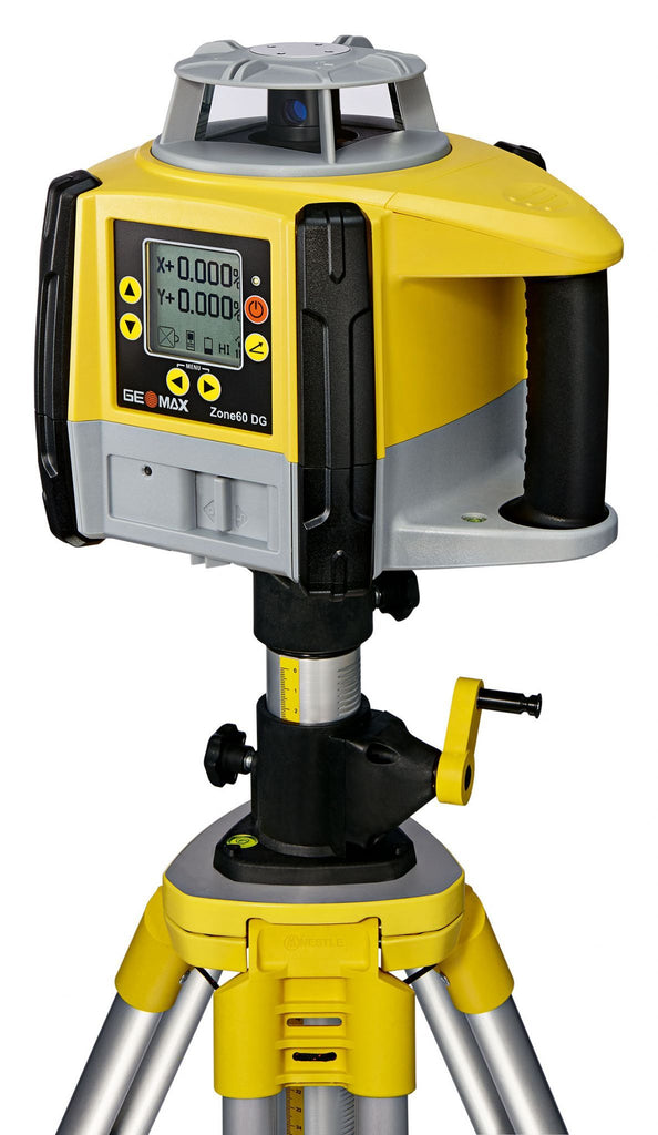 GeoMax Zone60 DG Rotating Laser Level with ZRB90 Basic Laser Receiver, Dual Grade Laser