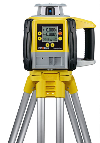 GeoMax Zone60 DG Rotating Laser Level with ZRD105B Laser Receiver, Dual Grade Laser