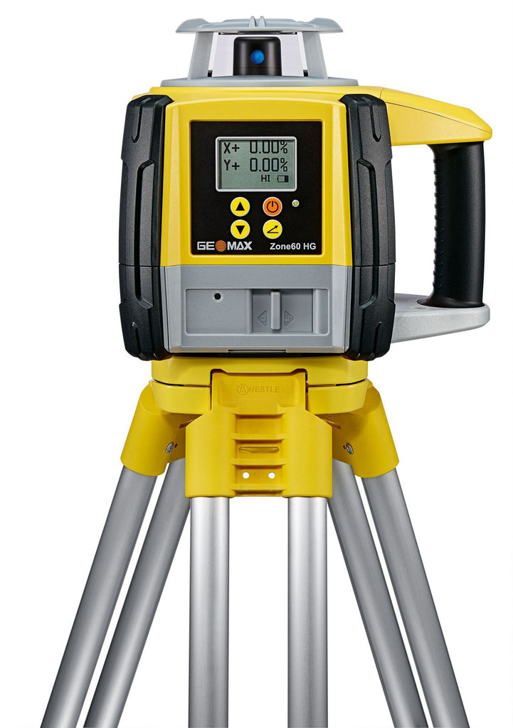 GeoMax Zone60 HG Rotating Laser Level with ZRB90 Basic Laser Receiver, Dual Grade Laser