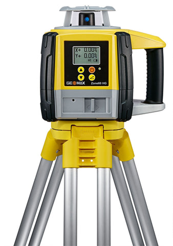 GeoMax Zone60 HG Rotating Laser Level with ZRP105 Pro Laser Receiver, Dual Grade Laser