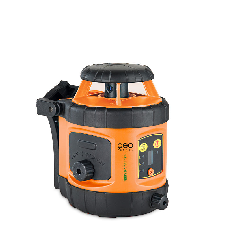Geo Fennel FLG 190A GREEN Rotating Laser Level with FR-DIST 30 Laser Receiver, Rotary Laser Level