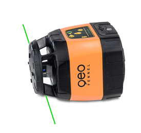 Geo Fennel FLG 245HV GREEN Rotating Laser Level with FRG 45 Laser Receiver, Rotary Laser Level