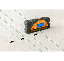 Geo Fennel FLG 245HV GREEN TRACKING Rotating Laser Level with FR 77mm Laser Receiver, Rotary Laser Level