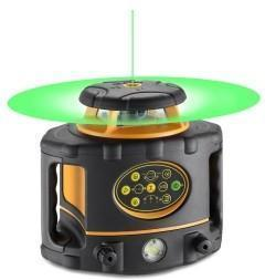 Geo Fennel FLG 260VA-Green (LC 2) Rotating Laser Level with FR 77-MM Laser Receiver, Rotary Laser Level,