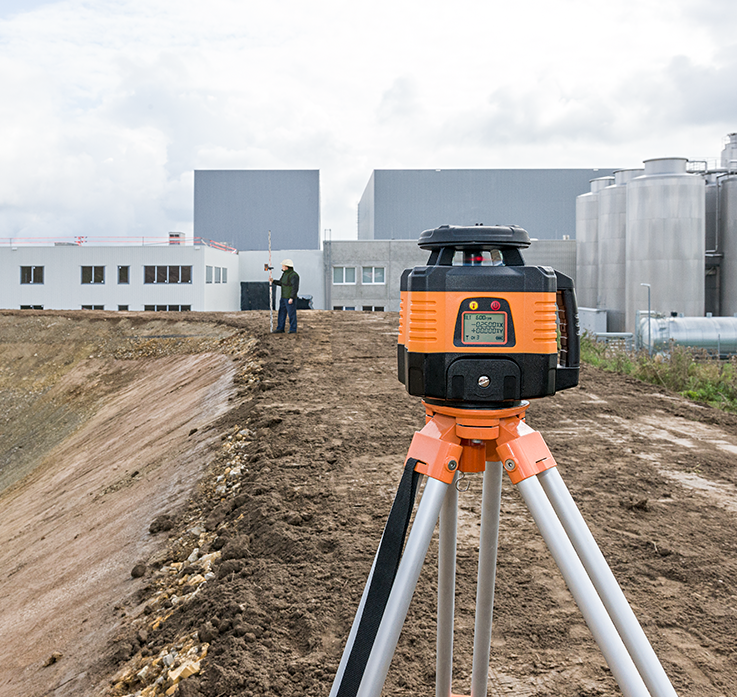 Geo Fennel FL 150H-G (LC 3R) Dual Grade Rotating Laser Level with FR 45 Laser Receiver, Rotary Laser Level