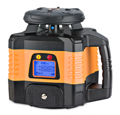 Geo Fennel FL 150H-G (LC 3R) Dual Grade Rotating Laser Level with FR 77-MM Laser Receiver, Rotary Laser Level