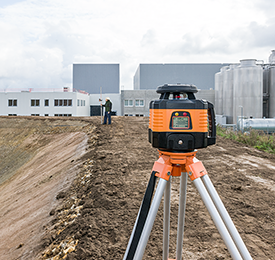 Geo Fennel FL 150H-G (LC 3R) Dual Grade Rotating Laser Level with FR 77-MM Laser Receiver, Rotary Laser