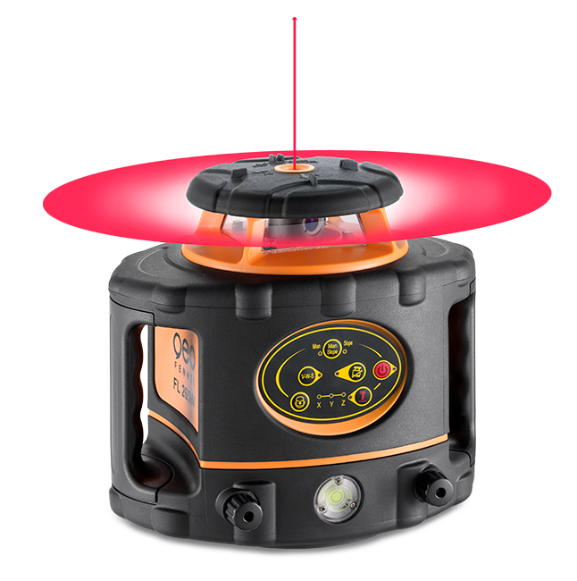 Geo Fennel FL 265HV (LC 2) Rotating Laser Level with FR-DIST 30 Laser Detector, Rotary Laser Level