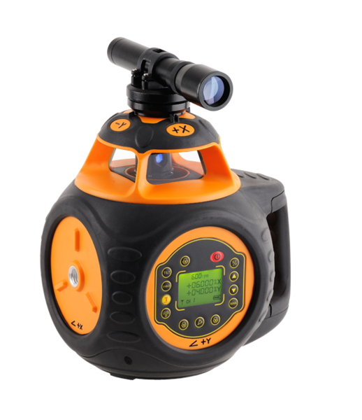 Geo Fennel FL 505HV-G (LC 2) Dual Grade Rotating Laser Level with FR-Dist 30 mm Laser Receiver, Rotary Laser Level