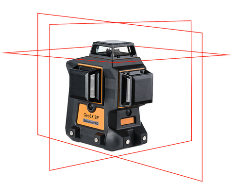 Geo Fennel Geo6X RED Beam Laser Only 3 x 360 Multi Line Laser Level, Laser Tools, Self Levelling Laser