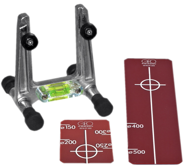 Geo Laser Universal Target Frame with Plexis DN 150 – 300 and DN 400 - 500