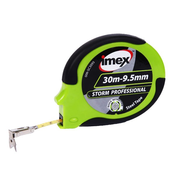 Imex 30mx9.5mm Steel closed reel Storm Pro tape, Measuring Tape