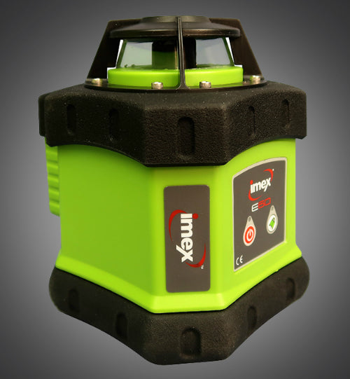 Imex E60 Rotary Laser Level Kit includes Tripod & Staff, Rotating Laser Level