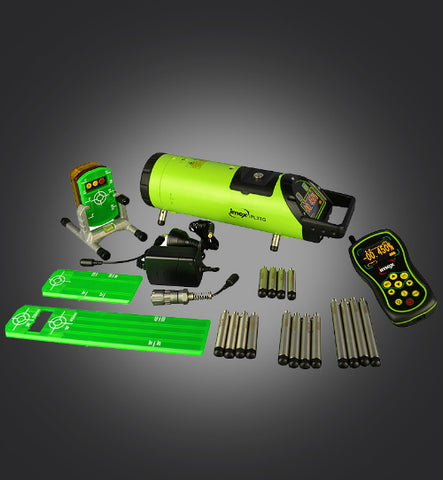 Imex IPL3TG Green Beam Pipe Laser Level with Tracking Feature, Drainage Laser, Plumbers Laser Level