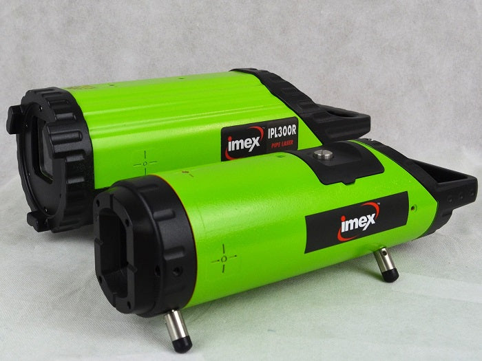 Imex IPL3TR Red Beam Pipe Laser Level with Tracking Feature, Drainage Laser, Plumbers Laser Level