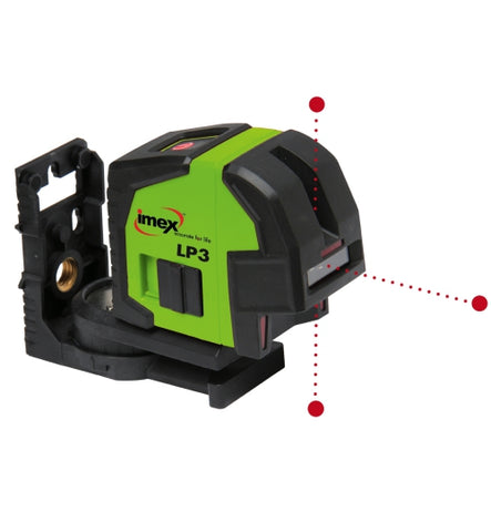 Imex LP3 Plumb Set Out Laser 3 Dot Laser Level, Laser Point Laser Tools