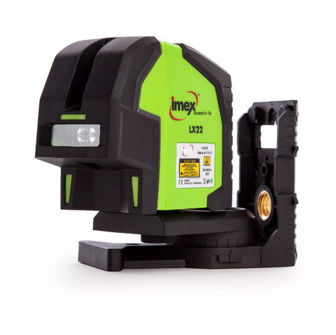 Imex LX22 Crossline Laser with Plumb dot plumb up, Cross Laser, Line Laser Level