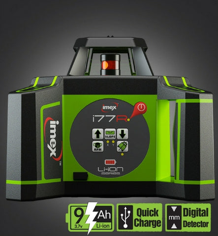 Imex i77R Rotating Laser Level Horizontal only with LRX10 Laser Receiver, Rotary Lasers