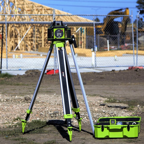 Imex i77R Rotating Laser Level Horizontal only with LRX10 Laser Receiver and Tripod & 5m Staff